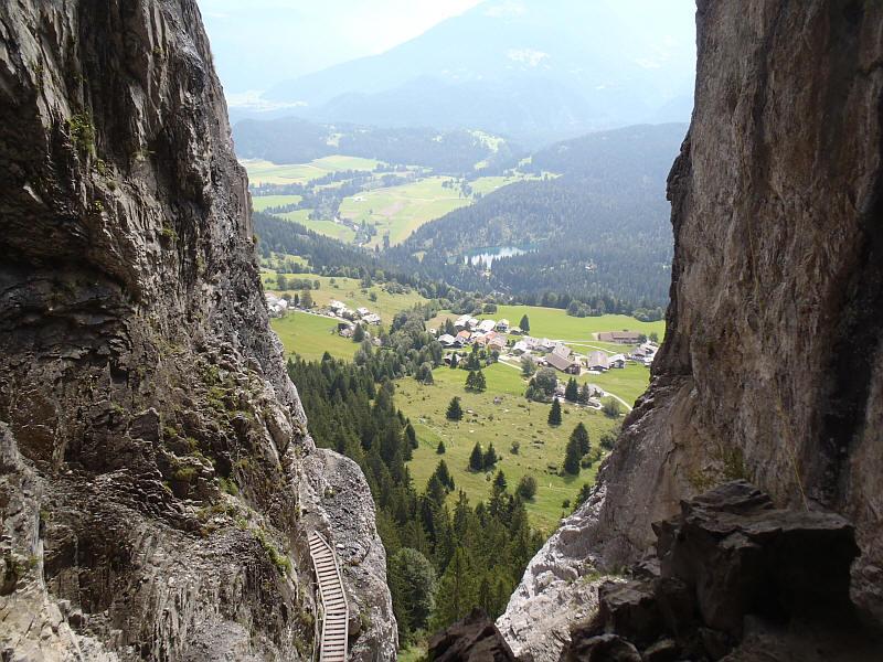 Klettersteig Pinut : Klettersteig pinut flims fidaz